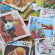 Post stamps dedicated to sports — Stok fotoğraf