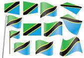 Flag of Tanzania — Stock Vector