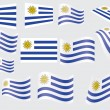Flag of Uruguay — Stock Vector
