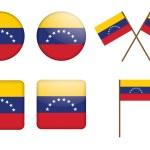 Постер, плакат: Badges with flag of Venezuela