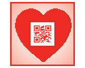 QR code I love you — Stock Vector