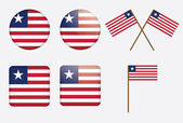 Badges with flag of Liberia — Stock Vector
