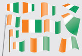 Set of flags of Ivory Coast — Stock Vector