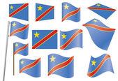Flag of DR Congo — Stock Vector