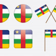 Royalty-Free Stock Vector Image: Badges with flag of the Central African Republic