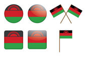 Badges with flags of Malawi — Stock Vector