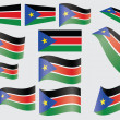 Flag of South Sudan - Image vectorielle