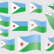 Flag of Djibouti - Stock Vector