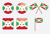 Abzeichen flagge burundi — Stockvektor