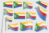 Flagga unionen komorerna — Stockvektor
