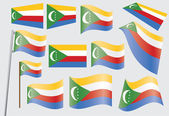 Vlajka unie komor — Stock vektor