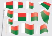 Flag of Madagascar — Stock Vector