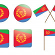 Badges with flag of Eritrea — Stock Vector