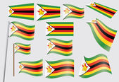Flag of Zimbabwe — Stock Vector