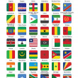 Push buttons with African countries flags - Stock Vector