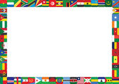 Frame made of African countries flags — Stock Vector