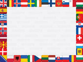 European countries flag icons frame — Stok Vektör