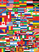 World flags background — Stock Vector