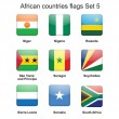 African countries flags set 5 — Stock Vector