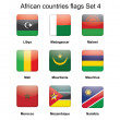 African countries flags set 4 — Stock Vector