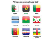 African countries flags set 1 — Stockvektor