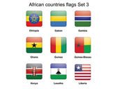 African countries flags set 3 — Stock Vector