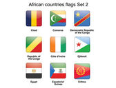 African countries flags set 2 — Stock Vector