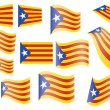 Flag of Catalonia — Stock Vector