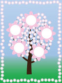 Tree at spring — Stock Vector