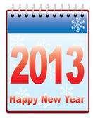 New year 2013 calendar — Stock Vector