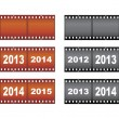 New Year filmstrips — Stock Vector