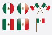 Badges with flag of Mexico — Stock Vector