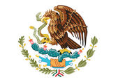 Coat of arms of Mexico — Stock Vector