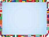 World flags frame — Stock Vector