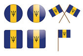 Badges with flag of Barbados — Stock Vector