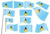 Flag of Saint Lucia — Stock Vector