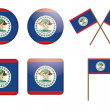 Badges with flag of Belize - Stock Vector