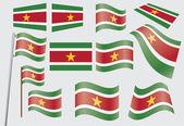Flag of Suriname — Stock Vector