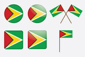 Badges with flag of Guyana — Stock Vector