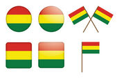 Badges with flag of Bolivia — Stock Vector