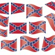 Confederate flag - Stock Vector