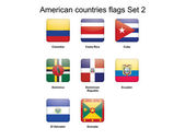 American countries flags Set 2 — Stock Vector