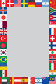 World flags icons frame — Stock Vector