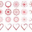 Day of Valentine symbols — Stock Vector