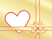 Present wrapper with valentine — Stock Vector
