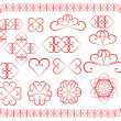 Design elements made of valentines - Imagen vectorial