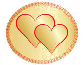 San valentino d'oro due — Vettoriale Stock