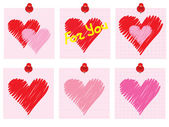Valentines Day notes — Stock Vector