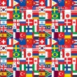 Royalty-Free Stock Photo: Seamless flags icons pattern