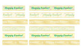 Seamless Happy Easter ribbons — Stock Vector